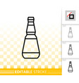 beer glass bottle simple black line icon vector image vector image