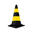 Black traffic cone vector image