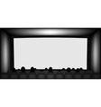 Blank cinema screen vector image