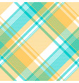blue yellow light color check tablecloth seamless vector image vector image