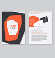 brochure template design Abstract BackgroundsFlat vector image vector image