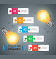 bulb light electric - business infographic vector image