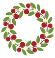 Cherry Wreath vector image
