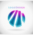 circle logo color shape design element in eps10 vector image