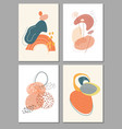 collection contemporary art posters art print vector image vector image