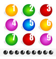 colorful circles with numbers cut into them vector image