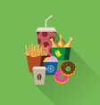 concept fast food flat set vector image vector image