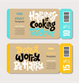 cooking class quotes vector image vector image