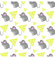cute rat pattern vector image
