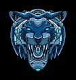 cyber tiger head vector image