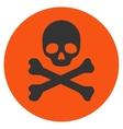 Death Flat Icon vector image vector image