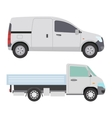 Delivery transport truck van vector image