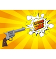 Explosive sale banner with gun vector image