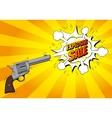 Explosive sale banner with gun vector image vector image