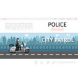flat police web page template vector image vector image