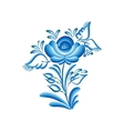 flower gzhel vector image vector image