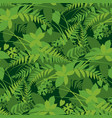 forest leaves greenery seamless pattern vector image vector image