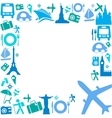 frame with travel icons vector image vector image