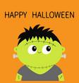 frankenstein monster happy halloween cute cartoon vector image vector image