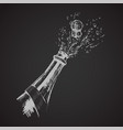 hand drawn of champagne explosion vector image vector image
