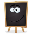 happy school chalkboard character vector image vector image