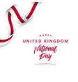 happy united kingdom national day template design vector image