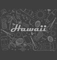 hawaii piece of chalk line art design vector image