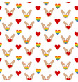 heart in hands seamless pattern vector image vector image