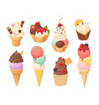 isolated ice cream 1 vector image vector image