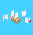 isometric conceptual ai in hr vector image vector image