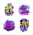 jazz theme composition set vector image