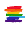 lgbt concept with rainbow flag vector image vector image