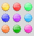 Love you sign icon Valentines day symbol Symbols vector image vector image
