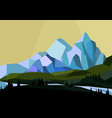 mountains landscape in vector image
