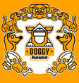 on the theme of dogs logo vector image vector image