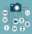 Photography concept idea in flat style vector image