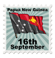 post stamp of national day of Papua New Guinea vector image