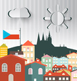 Prague Town The Capital City of Czech Republic vector image vector image