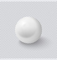 realistic white sphere isolated on transparent vector image vector image