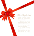 red gift bows vector image vector image