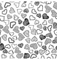 romantic seamless pattern with hand drawn doodle vector image vector image