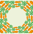 round frame carrots vector image