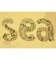 sea doodle vector image vector image