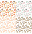 Seamless pattern designs with bohemian feathers vector image