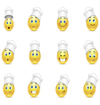 Set of smile cooks vector image vector image