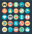 Shopping Colored Icons 3 vector image vector image