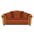 sofa icon room color design flat furniture vector image vector image
