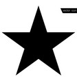 star - icon star black in flat style vector image