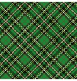 Tartan seamless patterndiagonal backgroundGreen vector image