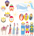 three wise men christmas set vector image vector image